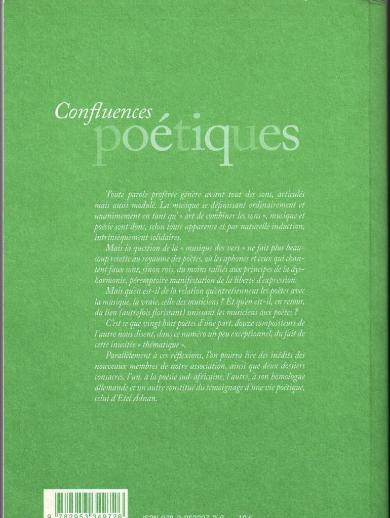 Confluences poetiques (verso)