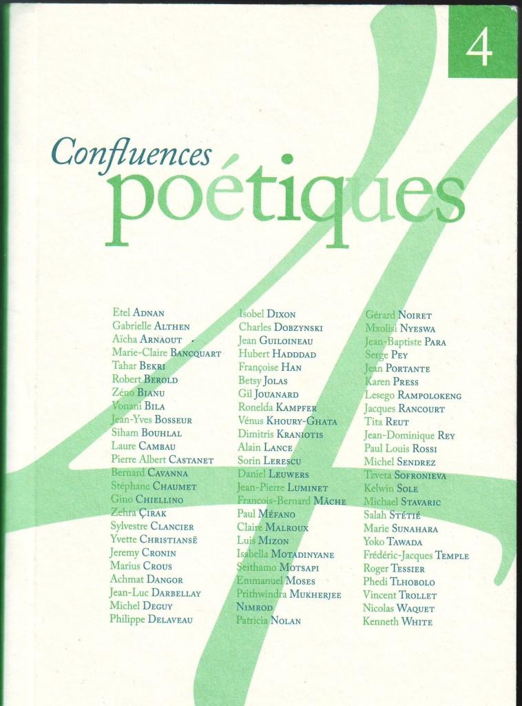 Confluences poetiques