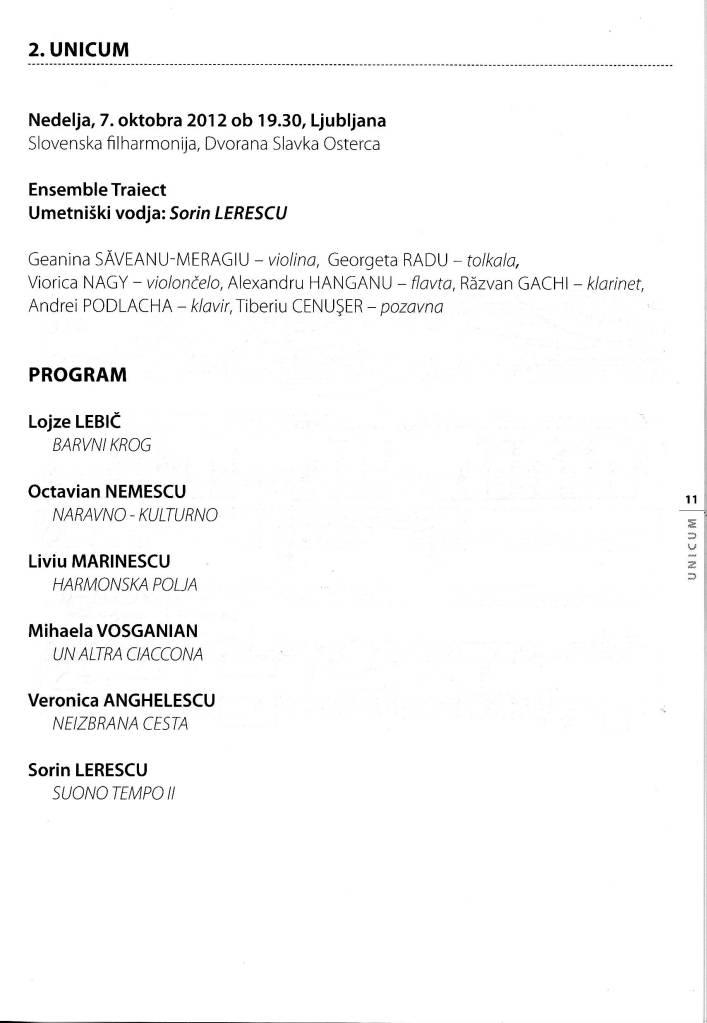 program concert